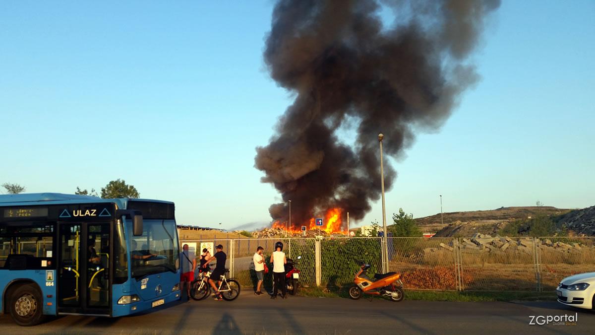 požar na reciklažnom dvorištu prudinec - jakuševec
