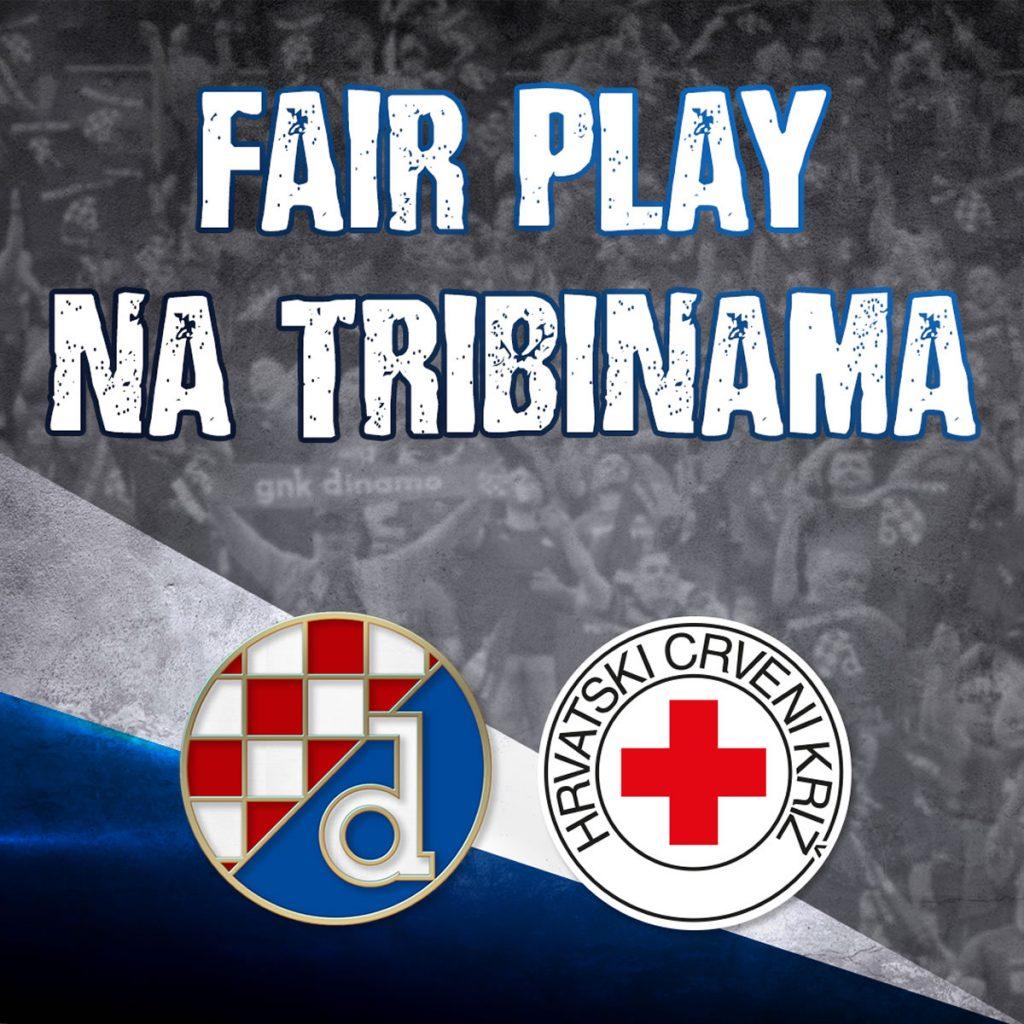 fair play na tribinama / gnk dinamo i hrvatski crveni križ