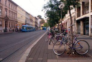 bicikl u ulici janka draškovića / zagreb, rujan 2016.