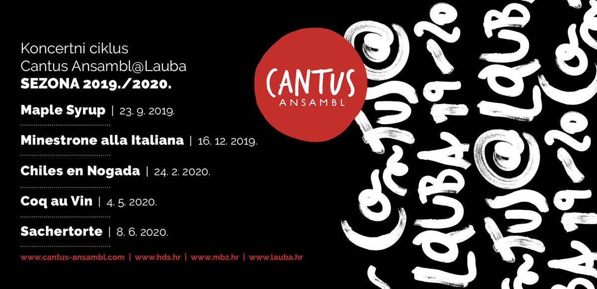 cantus ansambl / koncertni ciklus 2019-2020 / lauba zagreb
