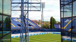 istočna tribina i travnjak stadiona maksimir / zagreb, travanj 2012.