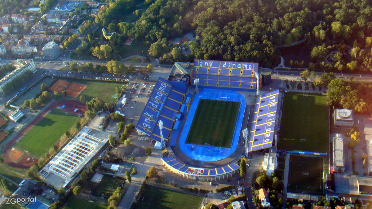 maksimirski stadion, zagreb / aero foto 2010.