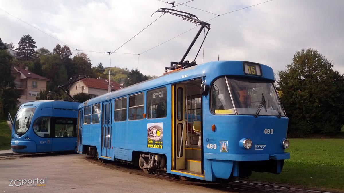 terminal mihaljevac, zagreb / tramvaji linije 14 i 15 / listopad 2016.