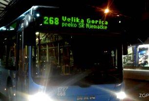 noćna autobusna linija 268 / ZET Zagreb