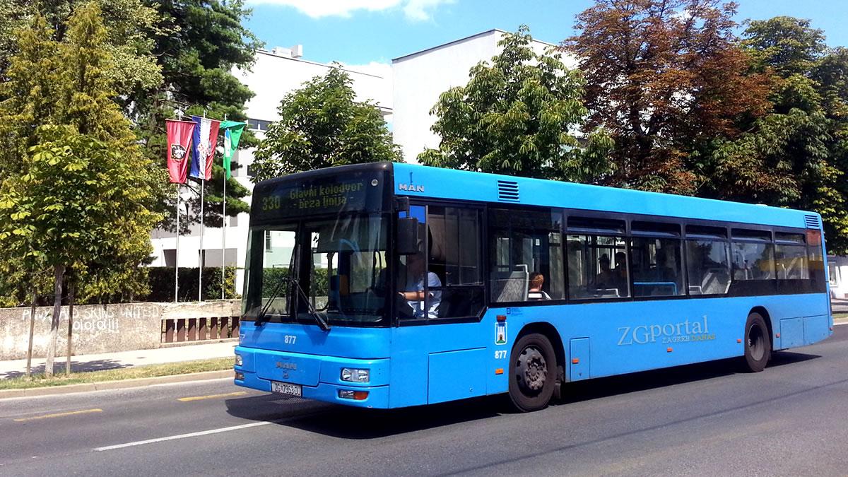 ZET Zagreb / autobusna linija 330 / MAN NL263 / srpanj 2017.