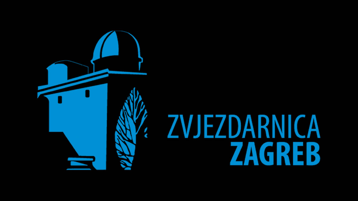 Zvjezdarnica Zagreb / crni logo