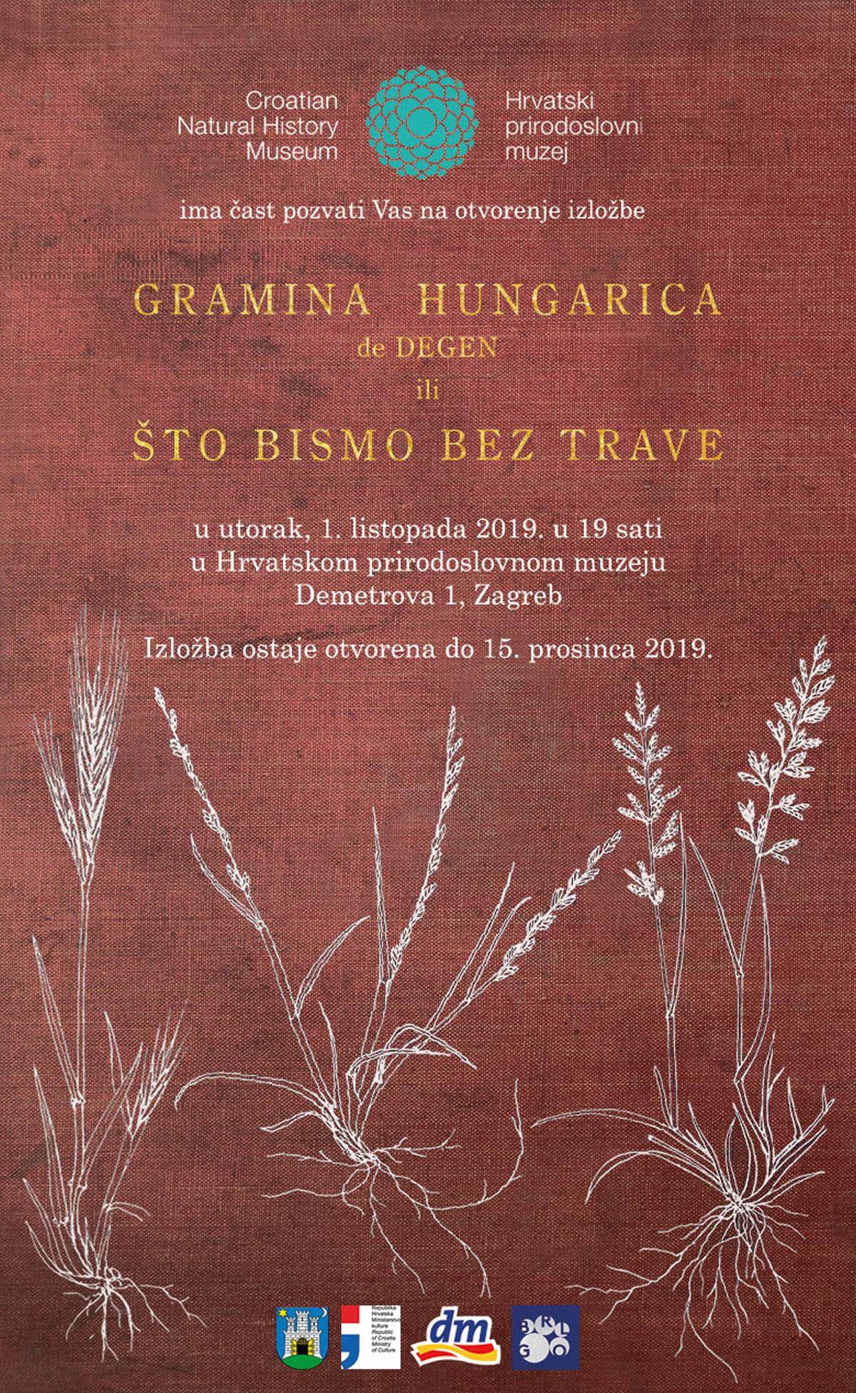 Gramina Hungarica de Degen ili što bismo bez trave / Hrvatski prirodoslovni muzej