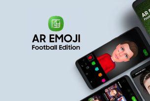 samsung ar emoji football 2018