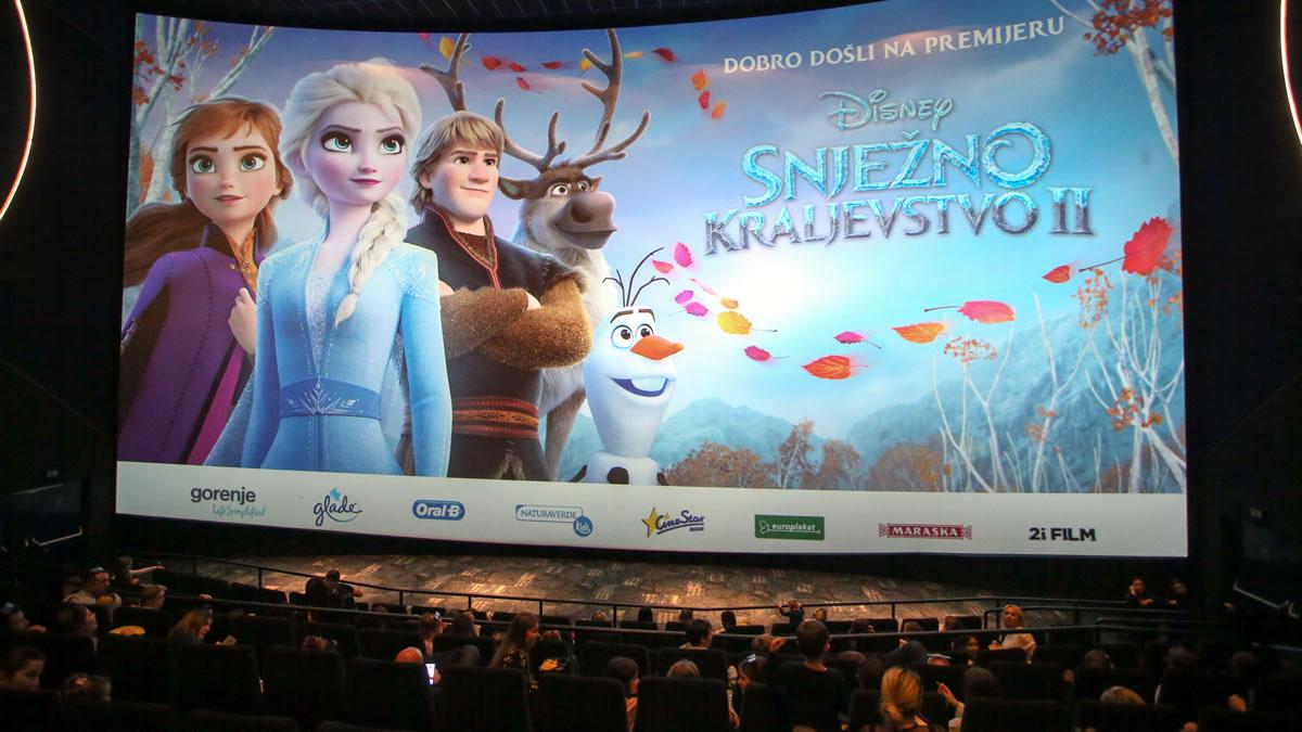 snježno kraljevstvo 2 / cinestar arena zagreb 2019