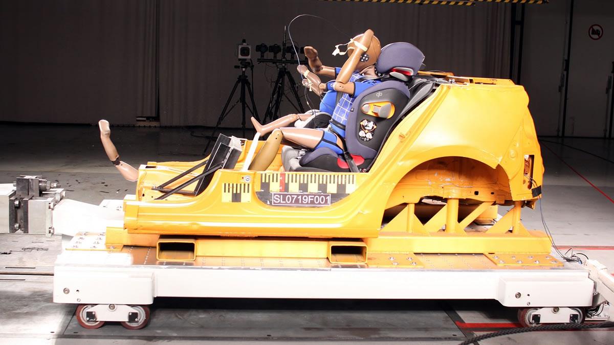 test-dječjih autosjedalica / prikaz testiranja / hak 2019