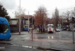 tramvaj / savska cesta, zagreb / siječanj 2013