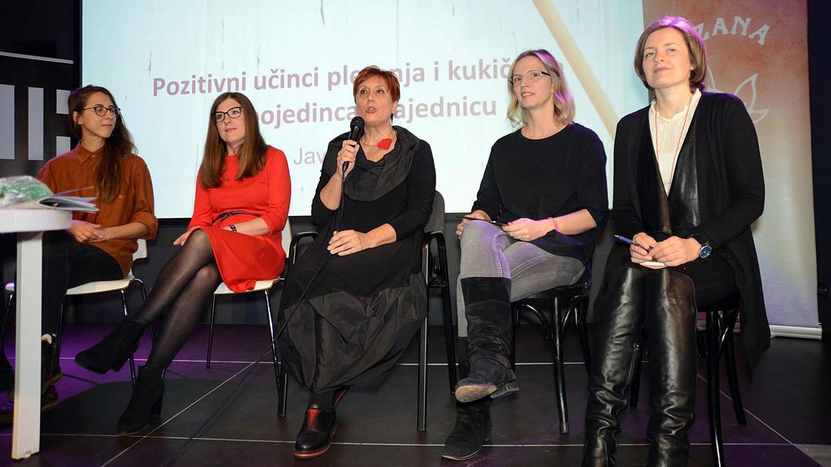 """tribina """"pozitivni učinci pletenja i kukičanja na pojedinca i zajednicu"""" / kic 2019"""