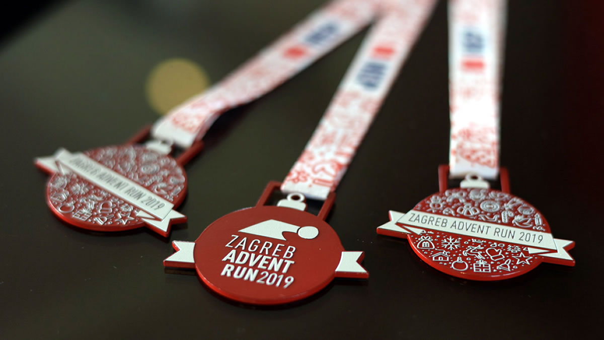 zagreb advent run 2019 - medalje