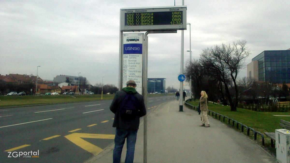 """autobusno stajalište """"lisinski - zapad"""" zagreb / listopad 2019."""