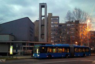 autobusna linija 219 - župa uzašašća gospodnjega, sloboština, zagreb / siječanj 2013.