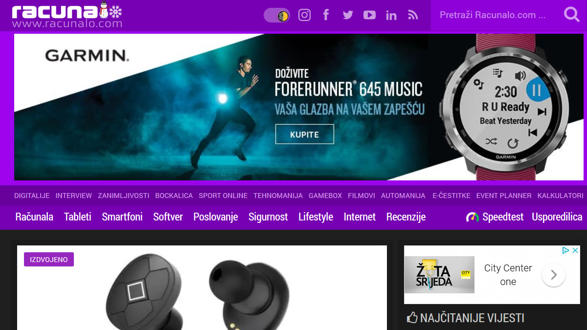 "tehnološki portal ""racunalo.com"" / dark mode 2019"