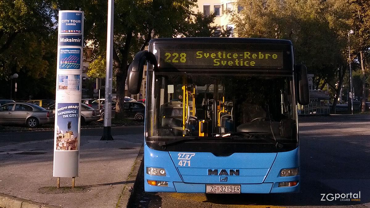 """terminal svetice zagreb / linija 228 """"svetice - rebro"""" / listopad 2015."""