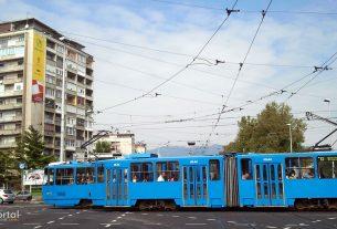 zet tramvaj broj 13 / križanje avenije marina držića i avenije vukovar, zagreb / rujan 2013.