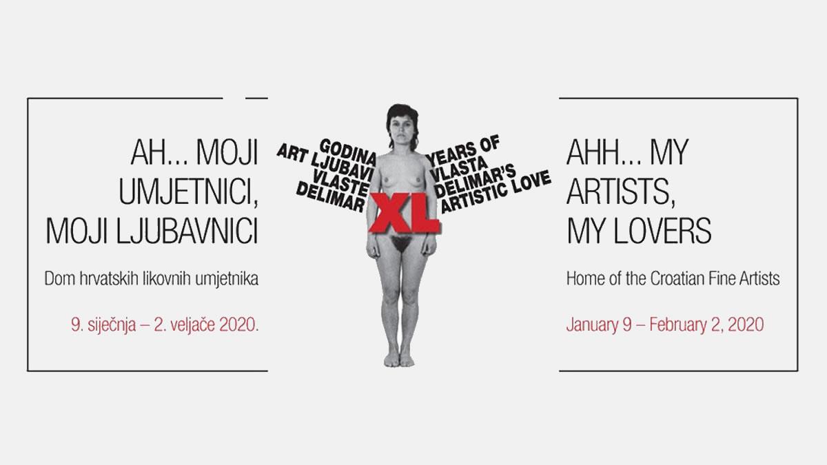 """Izložba """"40 godina art ljubavi Vlaste Delimar"""" u Galerijama Bačva i PM u Domu HDLU"""