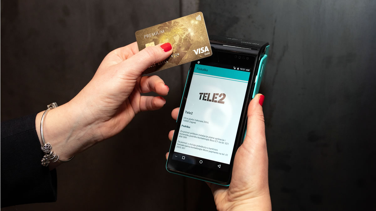 fiskalka - mobilna blagajna s integriranim kartičnim plaćanjem - tele2 i pbz card - 2020