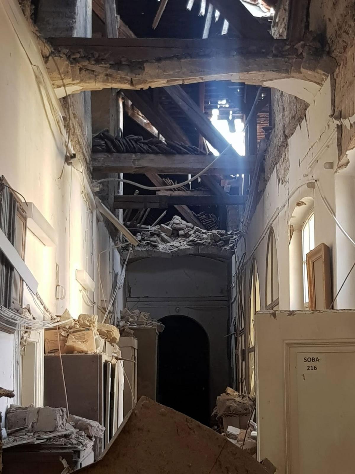 muzej za umjetnost i obrt zagreb - oštećenje u muzeju od potresa / ožujak 2020.