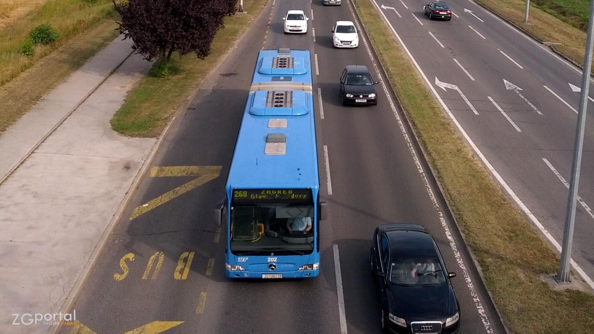 zet zagreb - autobus linije 268 - srpanj 2015.