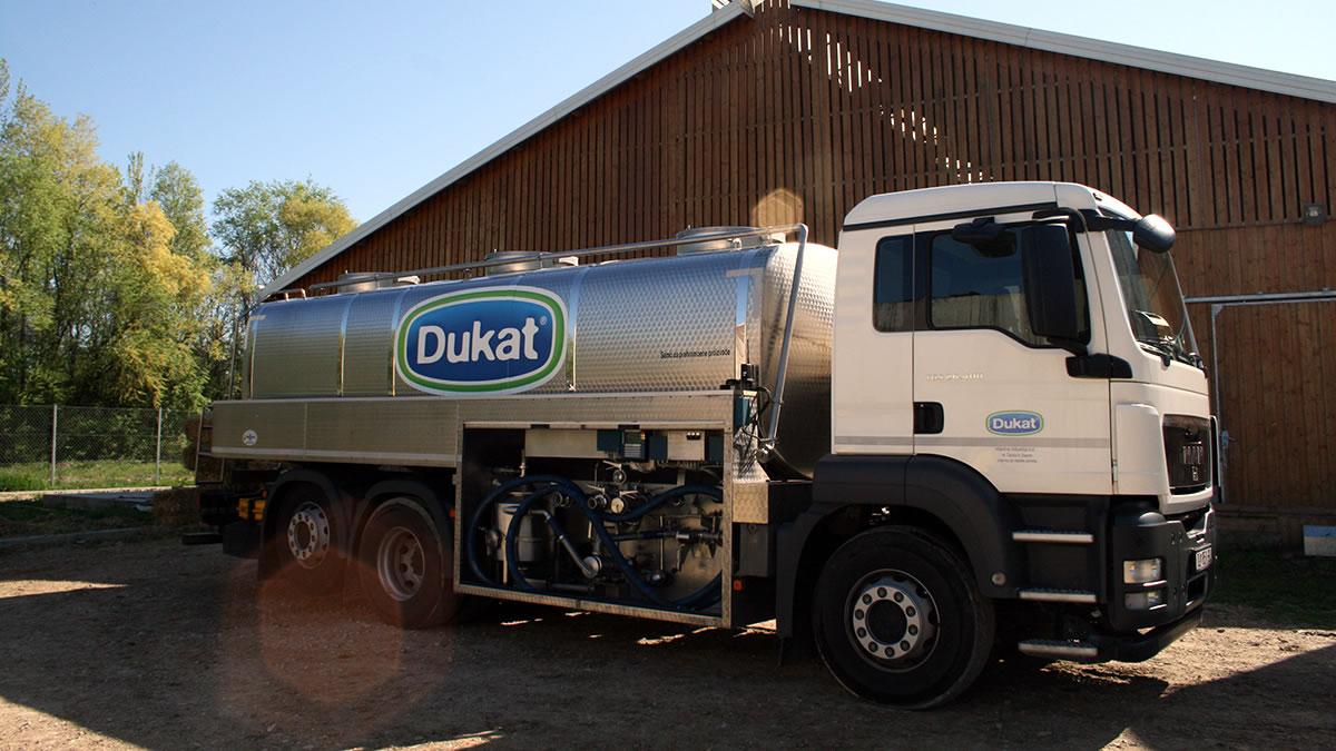 mliječna industrija dukat - kamion za prijevoz mlijeka - 2020