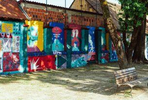 """mural """"onaj dan kada je tigar pao preko vulkana"""", smelly feet i erol sjajni - park opatovina, zagreb - 2020"""