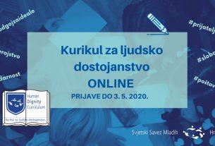 """online radionica """"kurikul za ljudsko dostojanstvo"""" - ssmh 2020"""