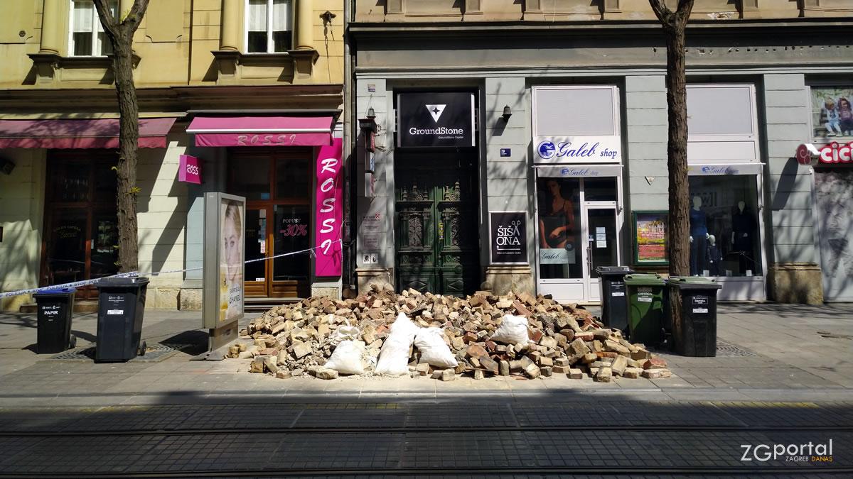 posljedice potresa - jurišićeva ulica, zagreb - travanj 2020.