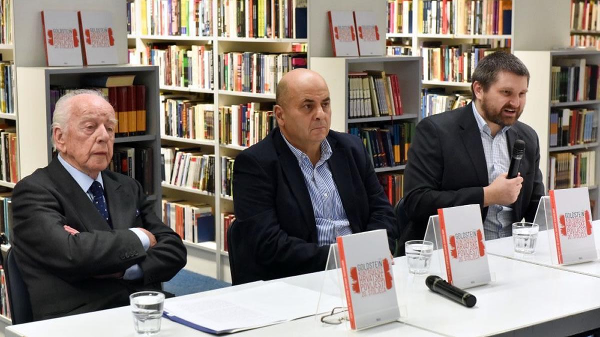 """promocija knjige """"kontroverze hrvatske povijesti 20. stoljeća"""" - ivo goldstein, budimir lončar i goran hutinec - 2020"""