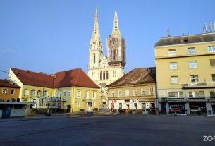 tržnica dolac zagreb - zagrebačka katedrala - travanj 2020.