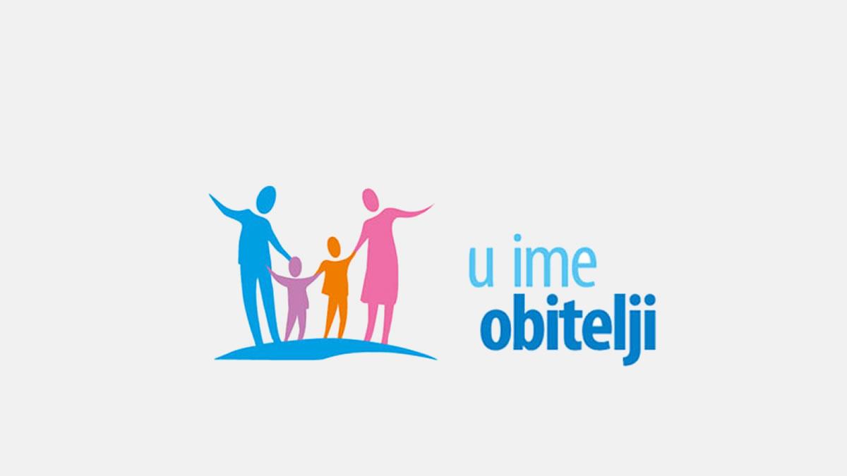 """udruga """"u ime obitelji"""" - logo 2020"""