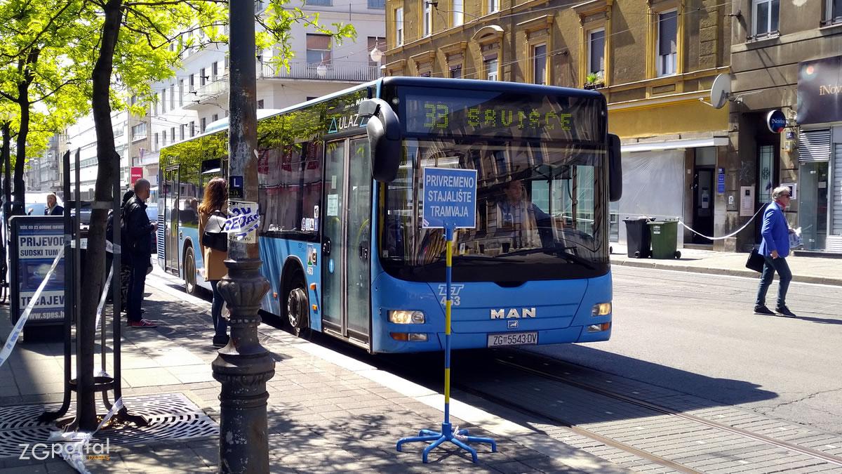 zet33 - draškovićeva ulica, zagreb - travanj 2020.