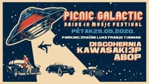 """drive-in glazbeni festival """"picnic galactic"""", velika gorica, 2020"""