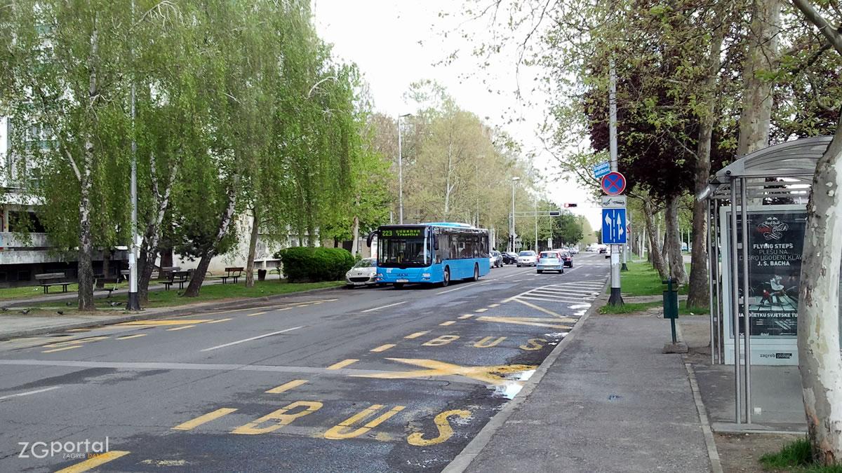 koledinečka ulica, dubrava, zagreb - autobusna linija 223 - travanj 2012