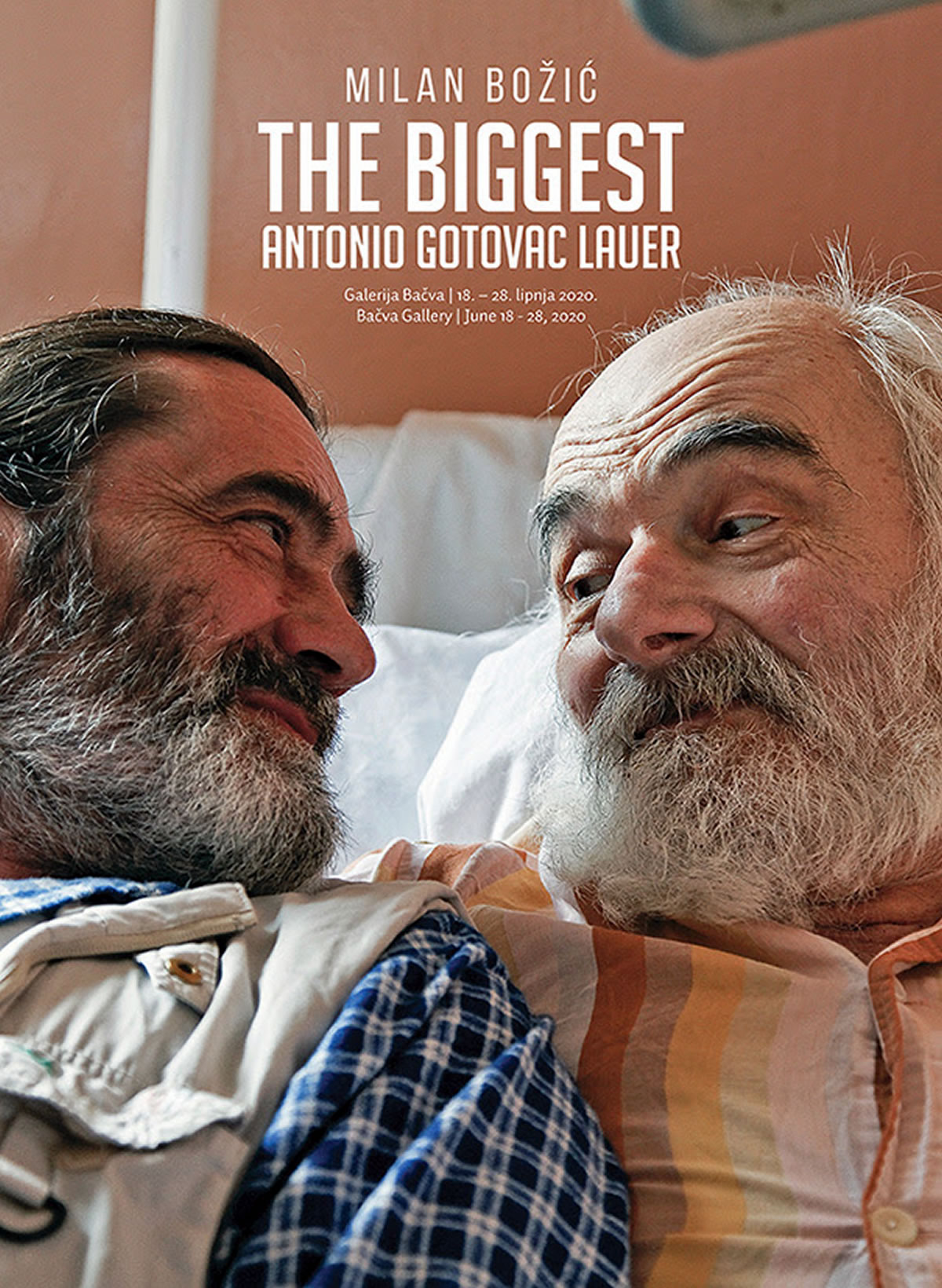 the biggest: antonio gotovac lauer - milan božić - plakat izložbe - 2020