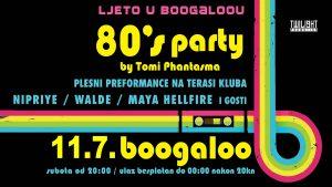 ljeto u boogaloou - 80s party - srpanj 2020