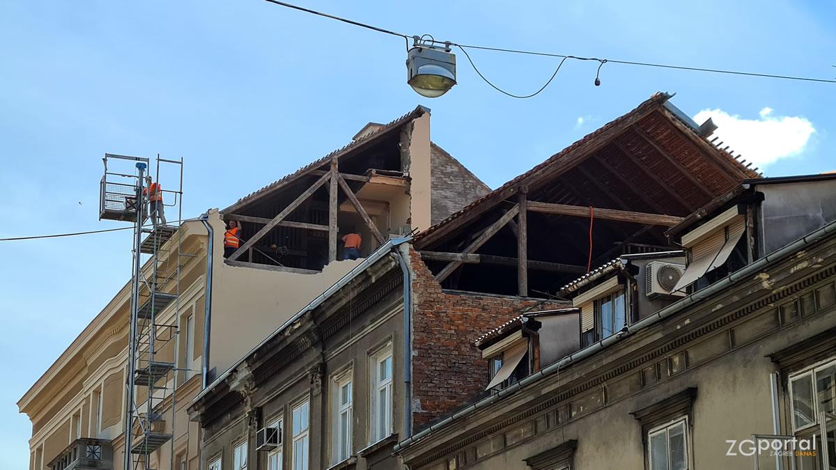 posljedice potresa - preradovićeva ulica, zagreb - srpanj 2020.