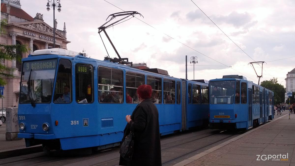 glavni kolodvor, zagreb / tramvajska linija 9 / tatra kt 4 / svibanj 2016.