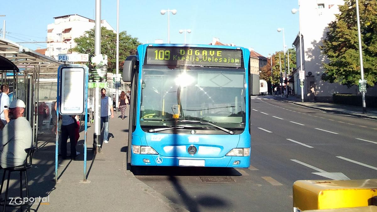 terminal črnomerec zagreb - zet bus linija 109 - rujan 2012.