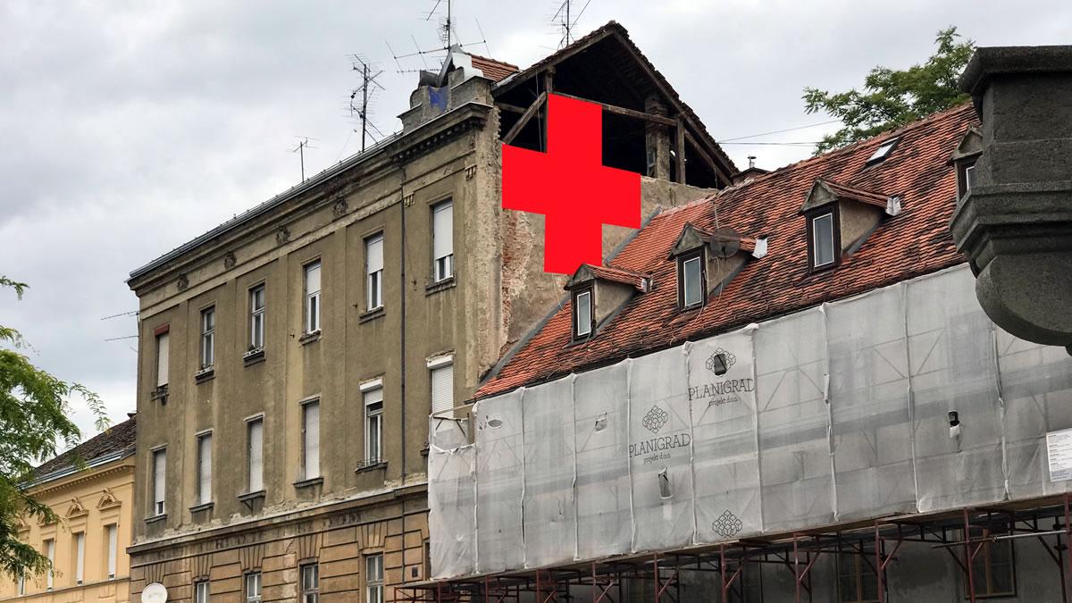 crveni križ na ilici - projekt ilica: q`art - 2020